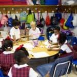 prek students do smartstart activities in classroom