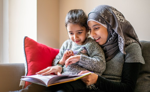 Mother and daughter in bedtime routine. Bedtime is a great time for gratitude routines. Gratitude can help children be happier and healthier.