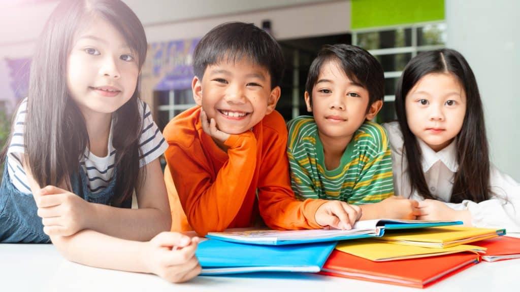 Children celebrating Asian American Pacific Islander Heritage Month