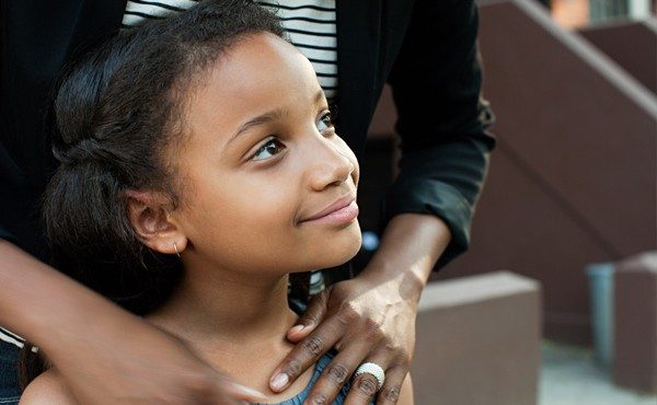 A family's love helps children feel confident.