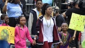 Children march in a Juneteenth parade in Philadelphia, Pennsylvania. Find ways to celebrate and learn about Juneteenth.