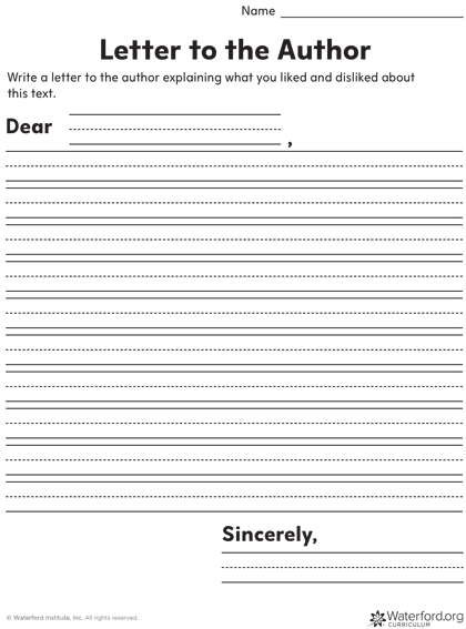Download this letter template